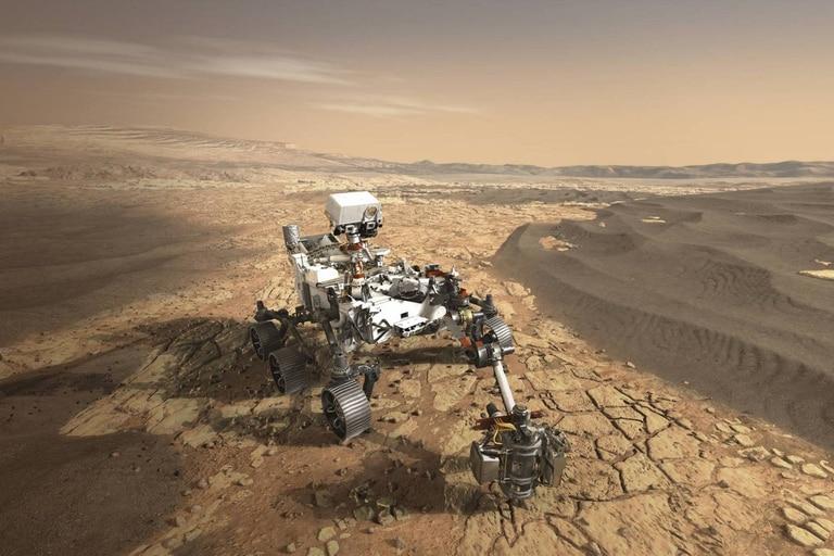 El rover llegó a la superficie de Marte luego de haber recorrido 480 millones de kilómetros