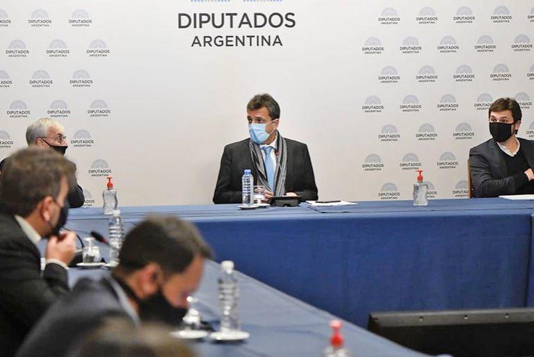 Sergio Massa, durante la última reunión de Labor Parlamentaria. No hubo acuerdo y la oposición espera una nueva convocatoria al diálogo