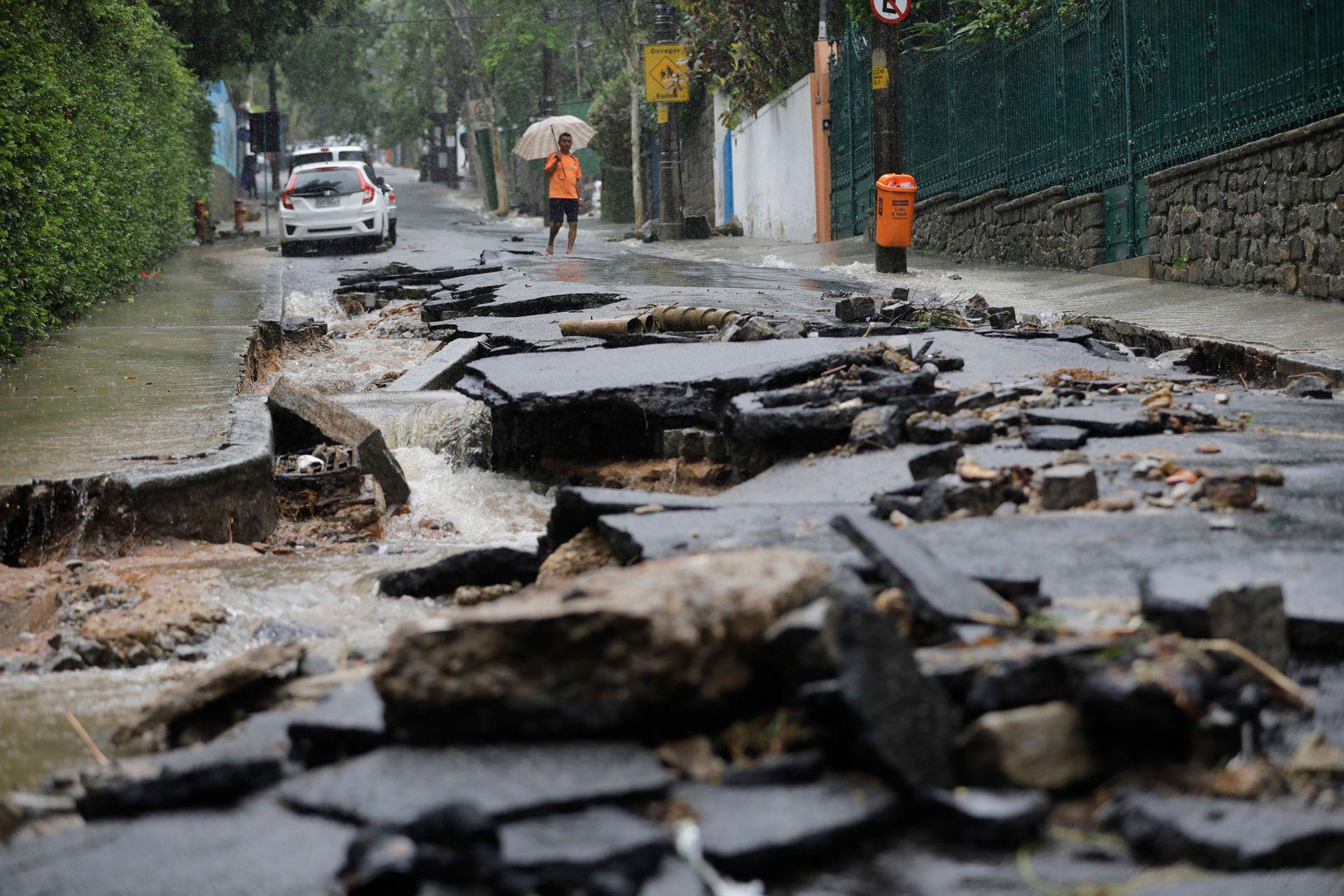 El desastre en Río de Janeiro después de las graves inundaciones