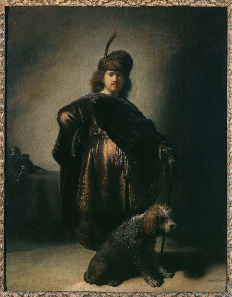 """Portrait de l'artiste en costume oriental"". Rembrandt. Alrededor de 1631. Petit Palais, musée des Beaux-arts de la Ville de Paris. Imagen descargada del sitio web de Paris Musées (http://www.parismusees.paris.fr/) que cuenta con más de cien mil obras libres de derecho de acceso gratuito)."