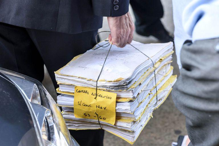 El expediente original del concurso del Correo Argentino, trasladado en un acto procesal de 2017