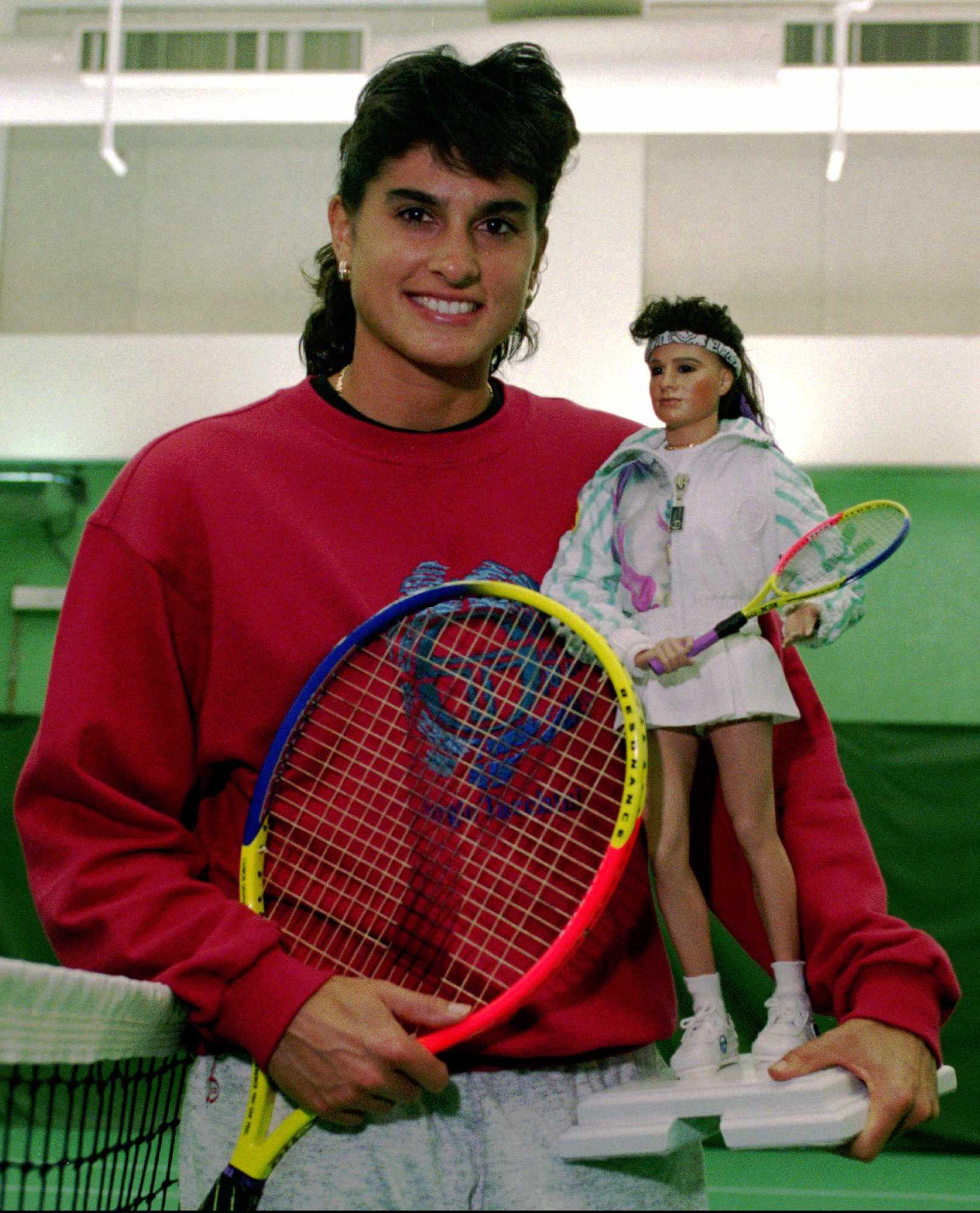 28) Gaby, una atracción para las marcas: la compañía The Great American Doll creó, a fines de 1994, la muñeca de Sabatini.