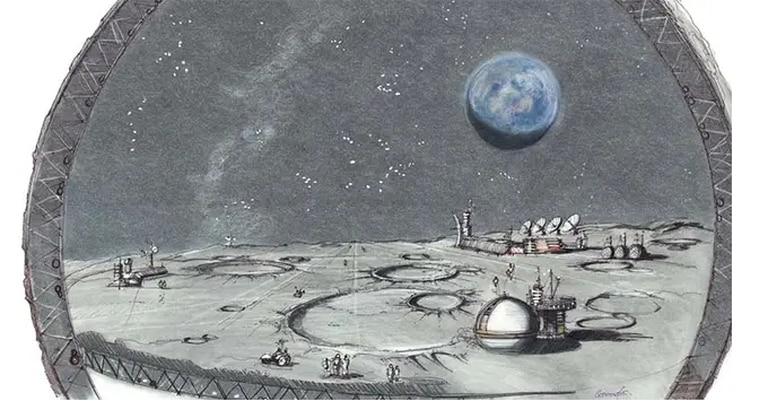 """Una ilustración del espacio previsto como la """"colonia lunar"""""""