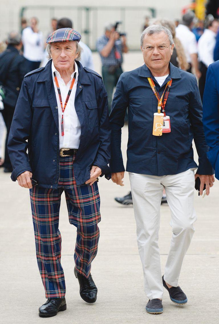 Junto a Sir Jackie Stewart, durante un Gran Premio británico