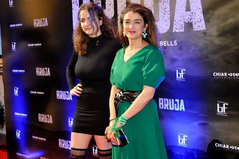 Erica Rivas, de estreno, junto a su hija Miranda de la Serna