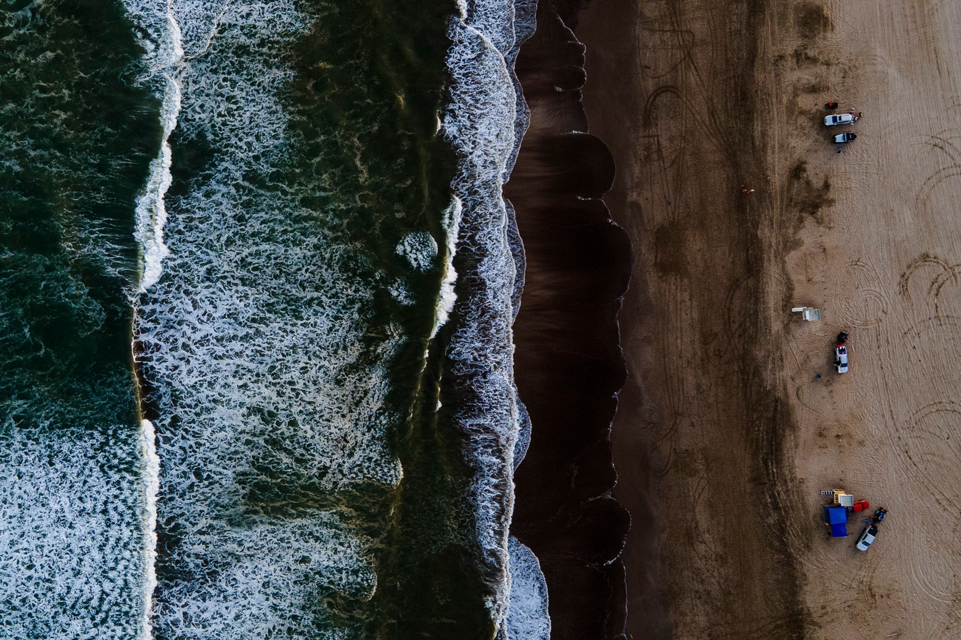 """Playa de Pinamar """"La Frontera"""", ideal para un verano con distanciamiento social."""