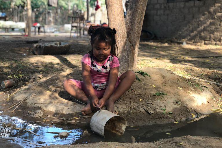 El acceso al agua potable en la zona es muy precario y eso lleva, muchas veces, a problemas de desnutrición y diarreas