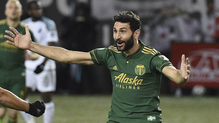 Diego Valeri, con la camiseta de Portland