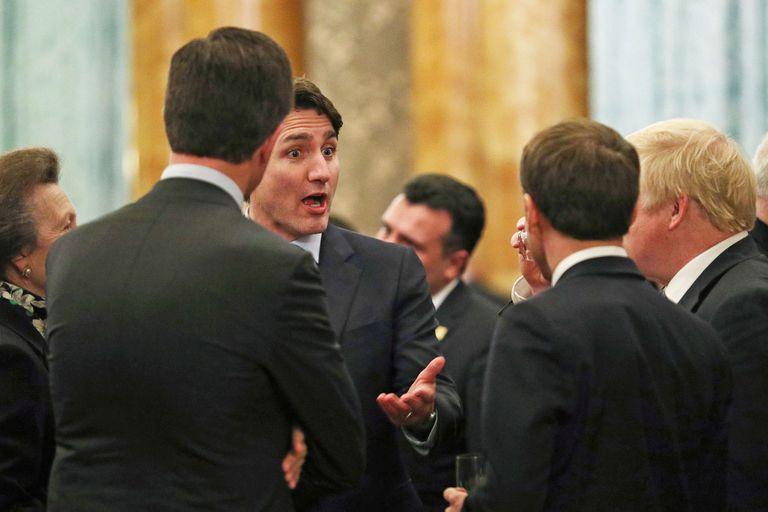 La princesa Ana, Rutte, Trudeau, Macron y Johnson, en el diálogo del video