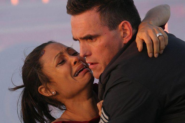 Junto a Matt Dillon, en una escena de Crash: Vidas cruzadas