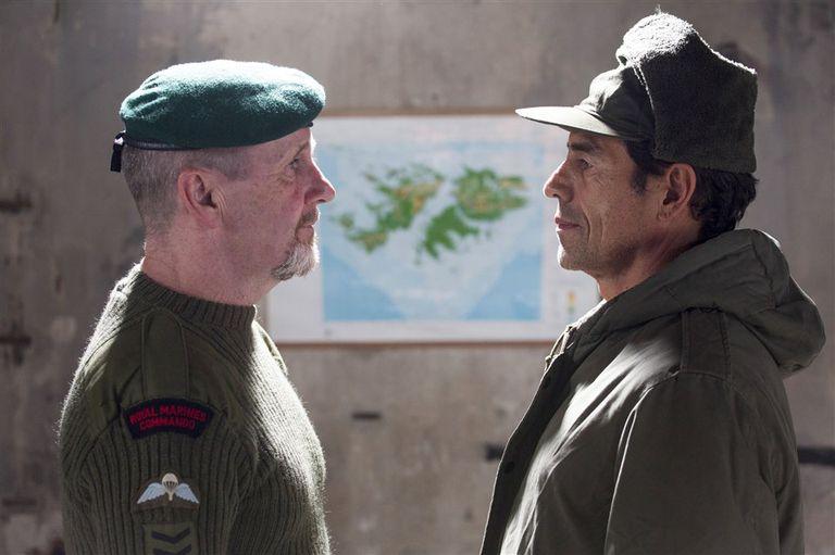 El británico Lou Armour y el argentino Marcelo Vallejo en Buenos Aires, antes del estreno local.