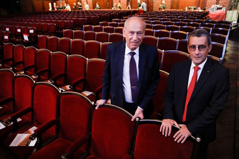 Luis Ovsejevich, presidente de Fundación Konex, y Federico Carenzo, coordinador del proyecto de puesta en valor