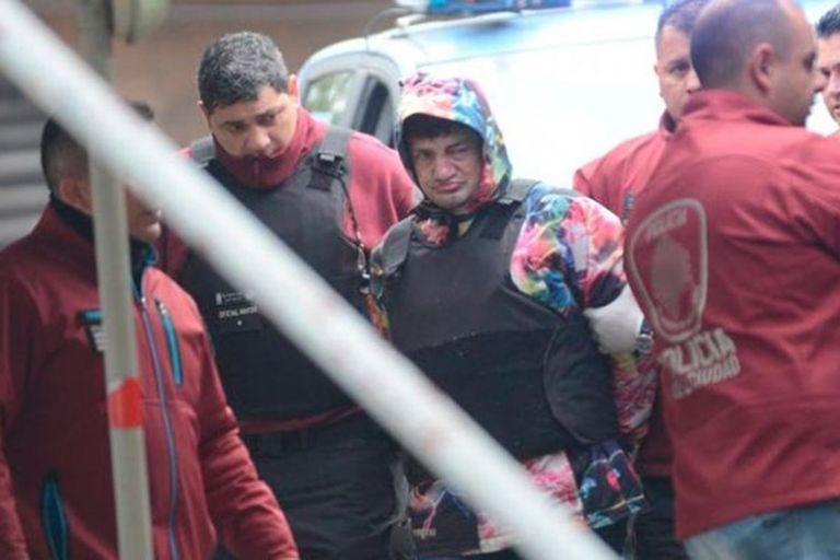 """El """"Pity"""" Álvarez, en el momento de su detención"""