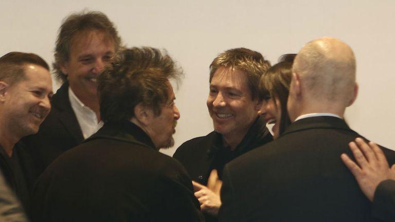 Al Pacino y su mujer, Lucila Polak, se reunió con Horacio Rodríguez Larreta, Adrián Suar, y los demás productores de su espectáculo en la Argentina