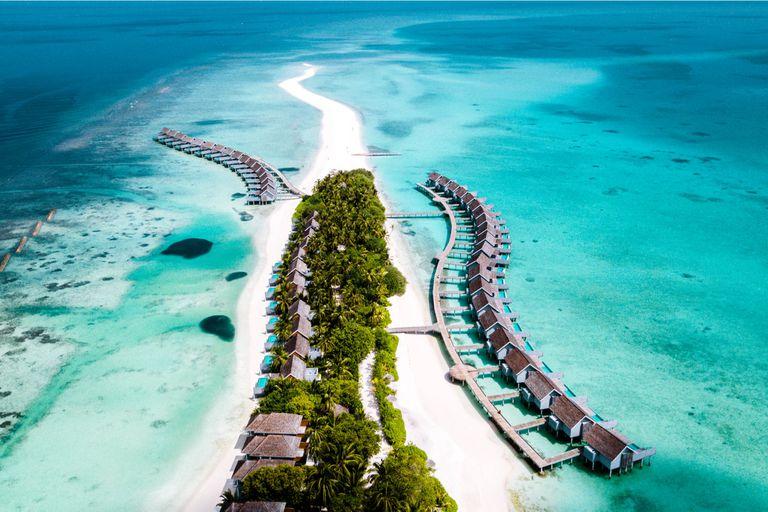 Cada hotel ocupa una isla entera