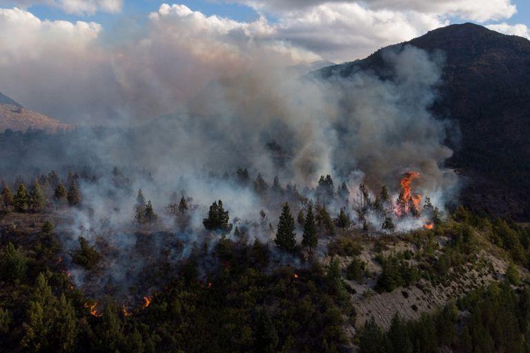 El Bolsón: el incendio ya afecta a casi 10.000 hectáreas y podría ser intencional