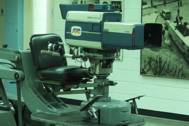 Cámara de Estudio a tubo Bosch Fernseh KCK40. Pasó a formar parte del material técnico, junto a el starndar Bosch Fernseh a partir de su adquisición en 1978 para el mundial