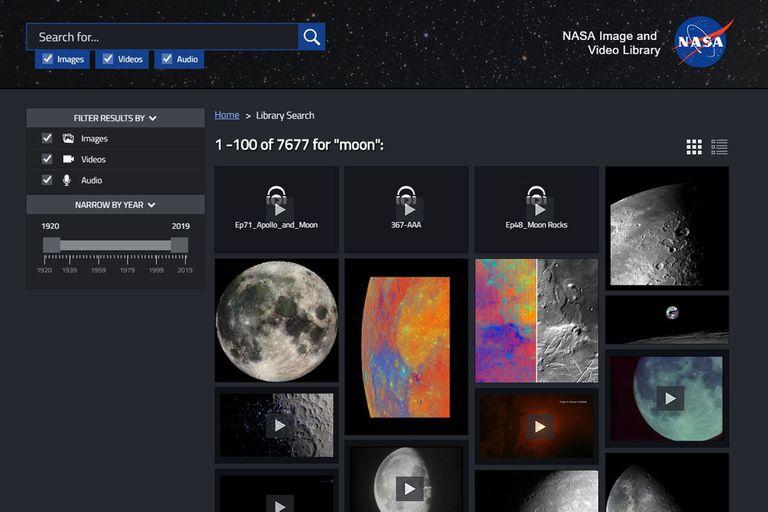 Imágenes del buscador de la NASA