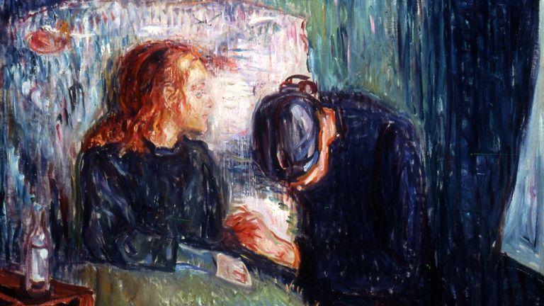 """El pintor noruego Edvard Munch (1863-1944) transmite en """"La niña enferma"""" el dolor causado por la muerte de su hermana a los 15 años por tuberculosis"""