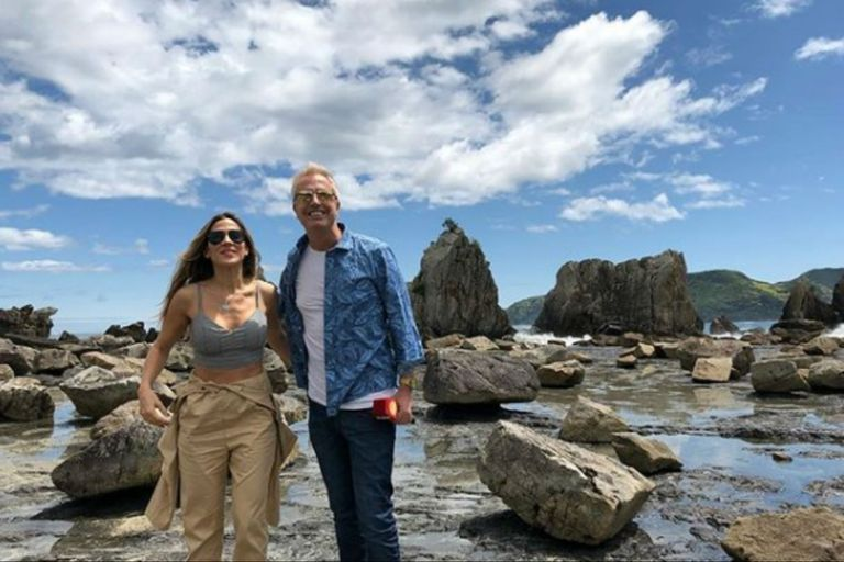 Marley y Jimena Barón, sonrientes en su viaje en Japón
