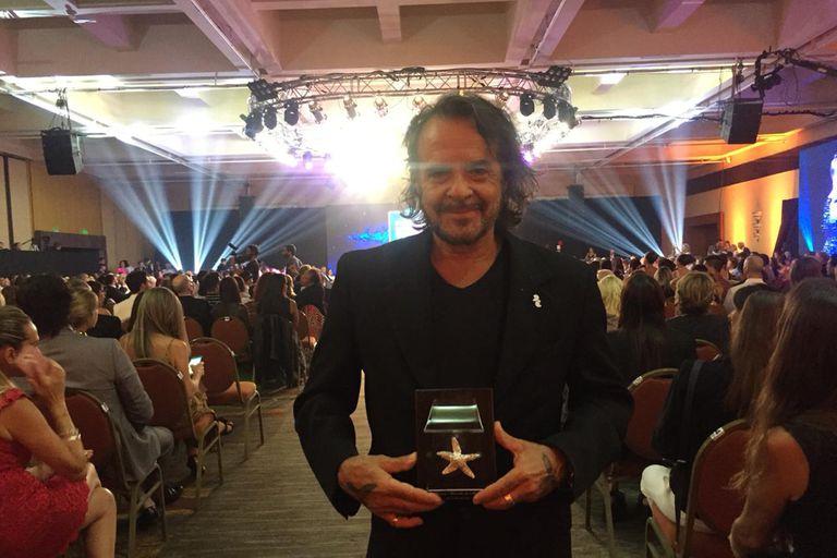 Martín Bianchedi ganó en el rubro Mejor música original por Chorros, la comedia del robo al banco