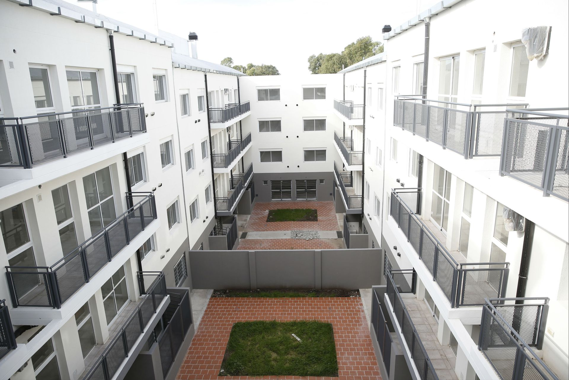 Los edificios tienen patios internos