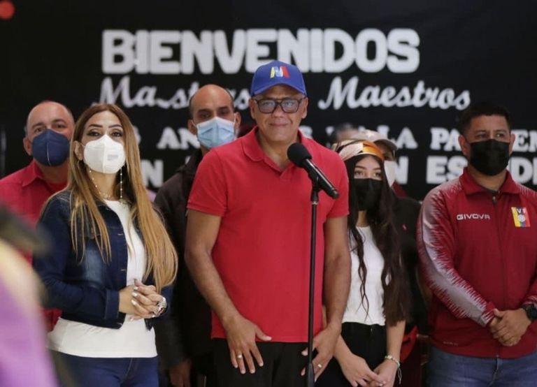 10-10-2021 El presidente de la Asamblea Nacional venezolana, Jorge Rodríguez POLITICA SUDAMÉRICA VENEZUELA GOBIERNO DE VENEZUELA