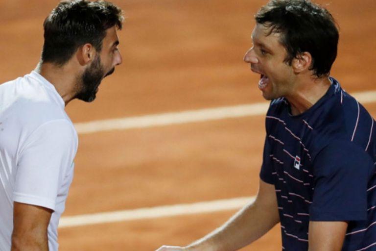 Impacto en Roma: Zeballos festejó en dobles e igualó un récord de Vilas