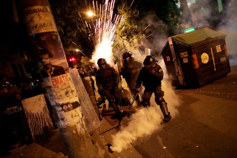 Los disturbios de anoche en La Paz