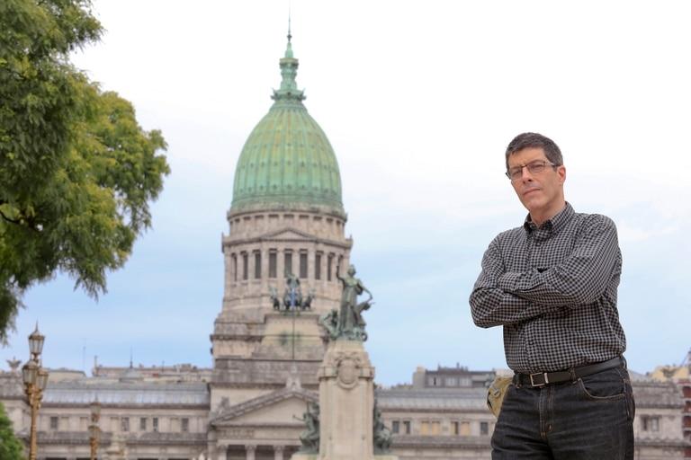 Marcelo Crovato, en Buenos Aires y tras su paso por el Congreso sonde se reunió con legisladores argentinos