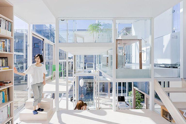 La Casa NA en Japón fue realizada por el estudio de arquitectos de Sou Fujimoto
