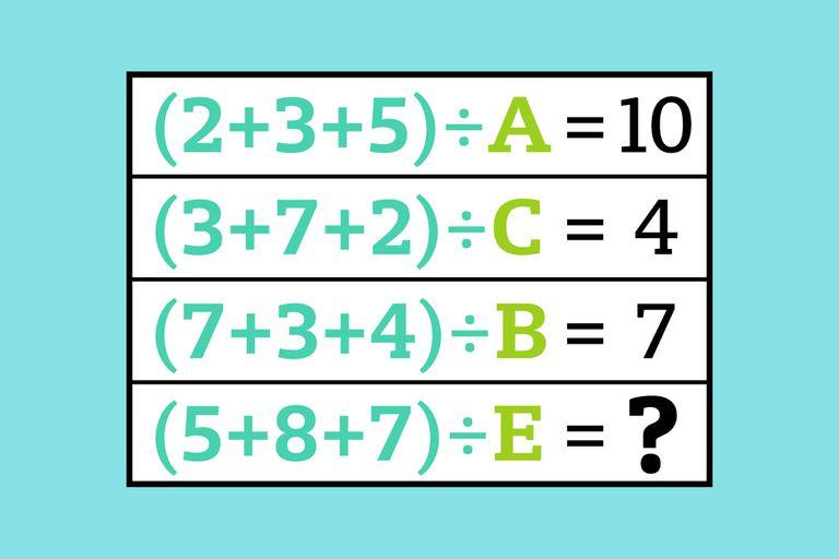 Para poder resolverlo deberás averiguar a qué número equivale cada letra