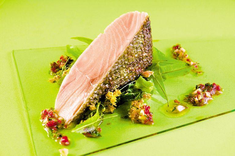 Trucha  y  frutos de mar