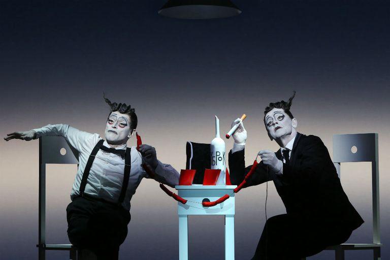 Baryshnikov y Dafoe, anoche, en escena