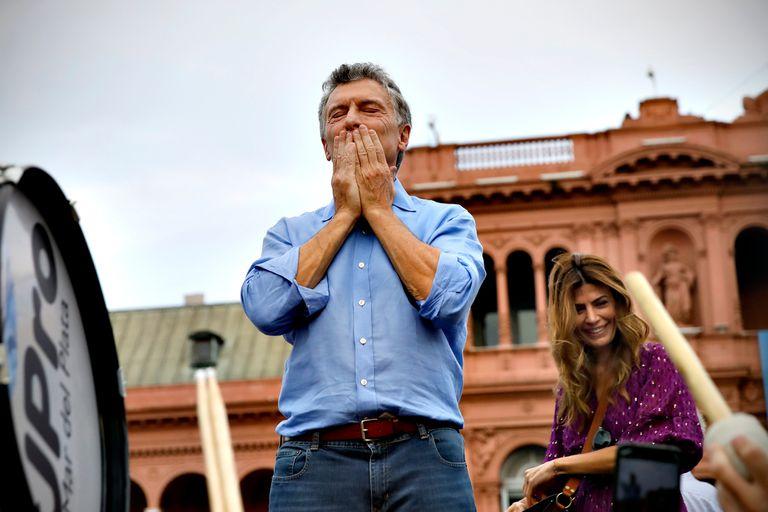 Mauricio Macri, emocionado al final del acto