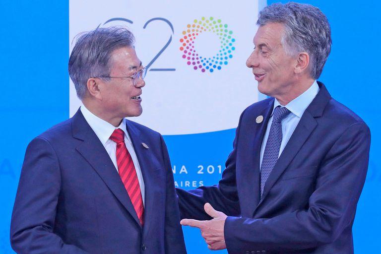 El presidente de Corea del Sur, Moon Jae-In se reunió con Mauricio Macri