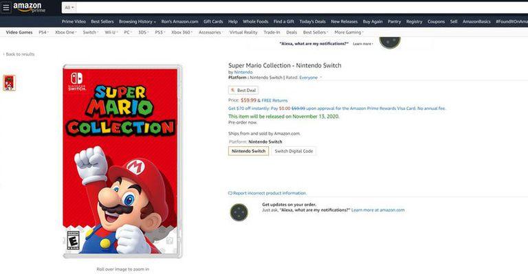 La supuesta filtración publicada en Reddit sobre Super Mario Collection, un título que recopilaría cuatro juegos remasterizados de Nintendo