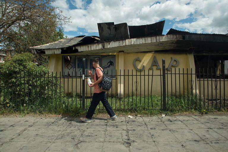Conflicto mapuche: realizan una colecta para reconstruir el club que fue incendiado