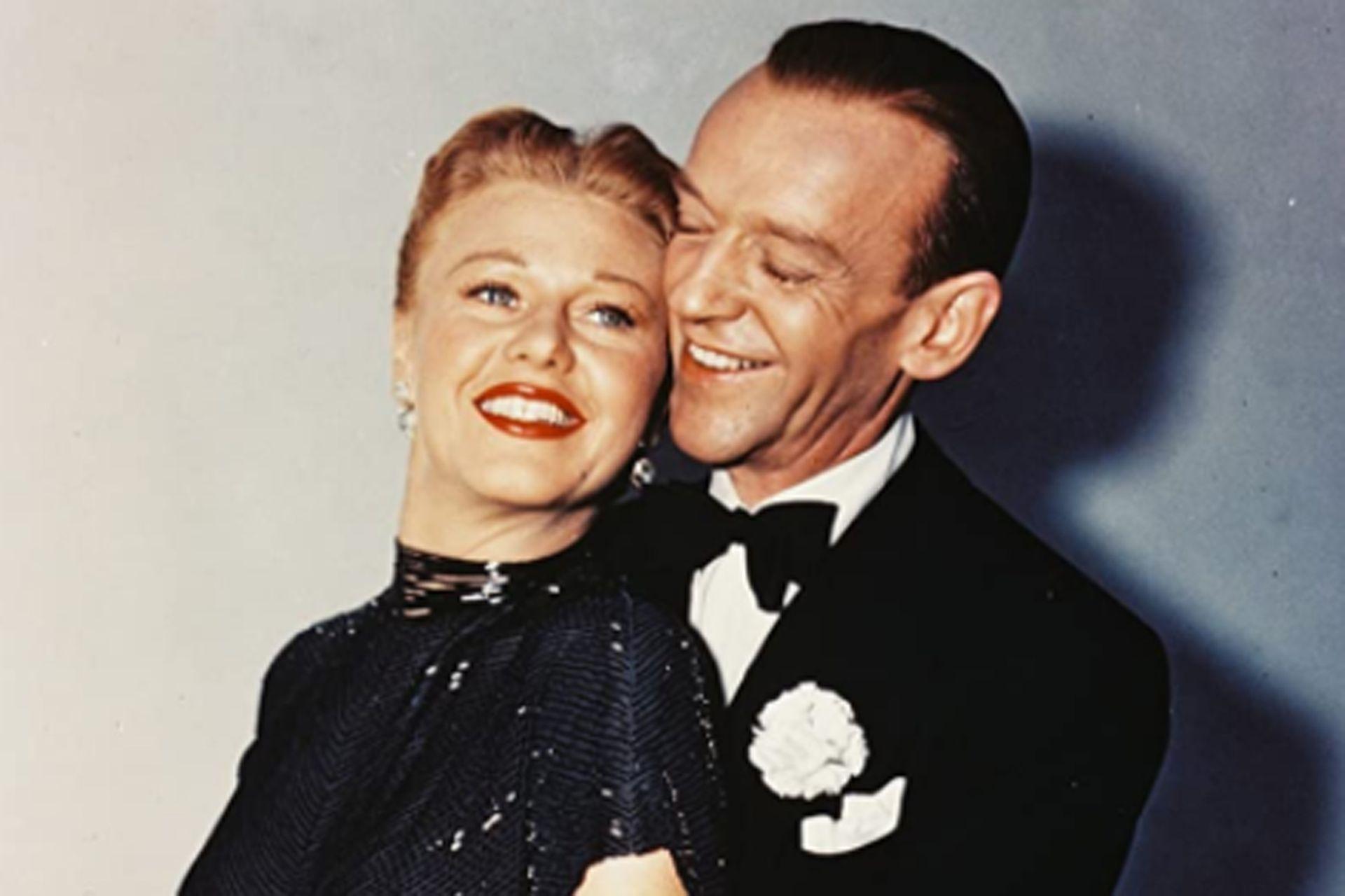 Fred Astaire, una de las grandes estrellas de los musicales de MGM, y su compañera inmortal, Ginger Rogers.