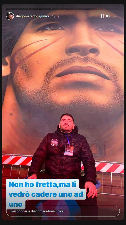 """Diego Maradona Junior advirtió que no tiene """"prisa"""" pero que los verá """"caer uno por uno"""""""