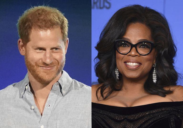 El príncipe Harry y Oprah, juntos en un serie documental