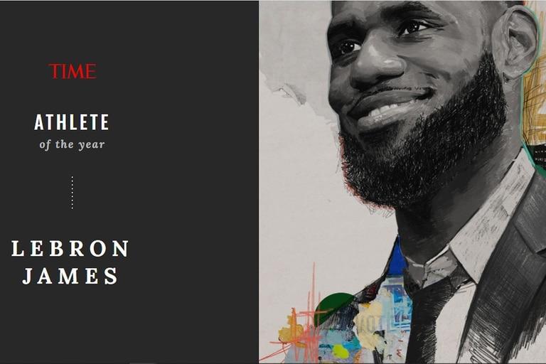 """LeBron James, nombrado """"Atleta del año"""" por la revissta Time"""