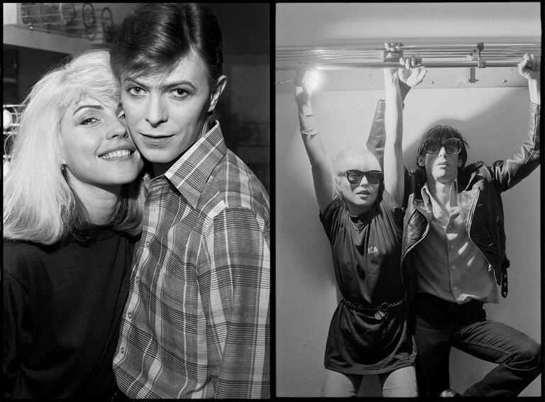 """""""Estas  las hice en el backstage de la gira de Iggy Pop para el disco The Idiot durante 1977. En estos conciertos, David Bowie se limitó a ser un acompañante de la banda Iggy tocando teclados. Bowie fue siempre muy amable con nosotros y demostró ser un consumado profesional de la música. Sentarse en el asiento trasero en la nave de Iggy no era para nada menor teniendo en cuenta que David ya era una estrella masiva. Haberse puesto en el rol de casi un sesionista decía mucho de la confianza que tenía en sí mismo y el enorme respeto que sentía por Iggy como artista."""""""
