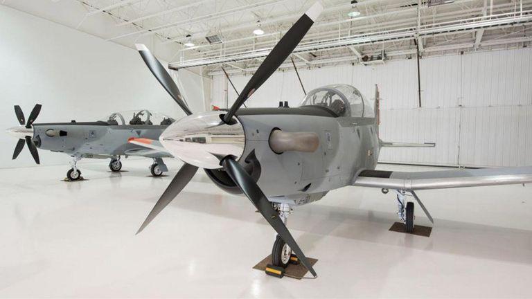Los aviones Texan II TC6 que adquirió el Gobierno a Estados Unidos