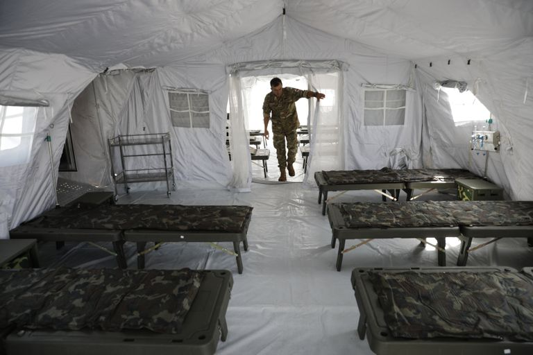 Campo de Mayo: El Hospital Militar Reubicable funcionará codo a codo con el de Campo de Mayo. El equipamiento le permite hacer diagnósticos y tratar casos complejos