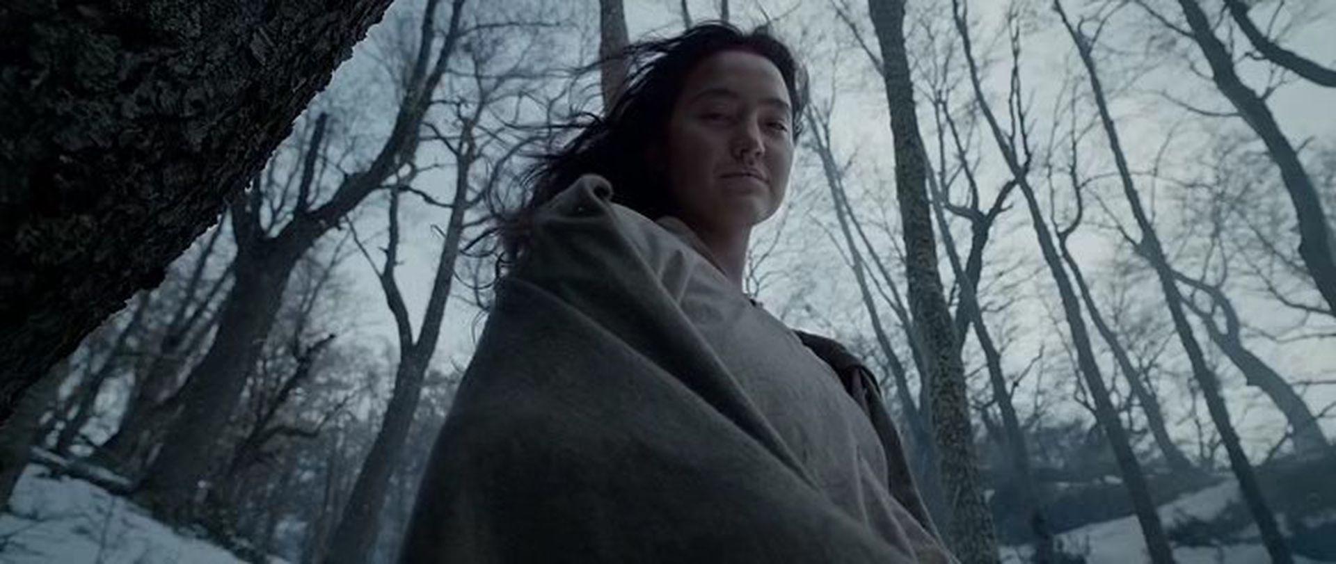 Como una aparecida  surge en la  escena aparece la mujer muerta del protagonista. La elegida fue una chica fueguina.