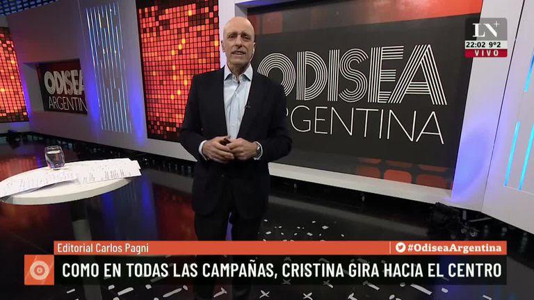 Como en todas las campañas, Cristina Kirchner gira hacia el centro