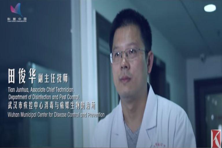 El investigador Tian Junhua