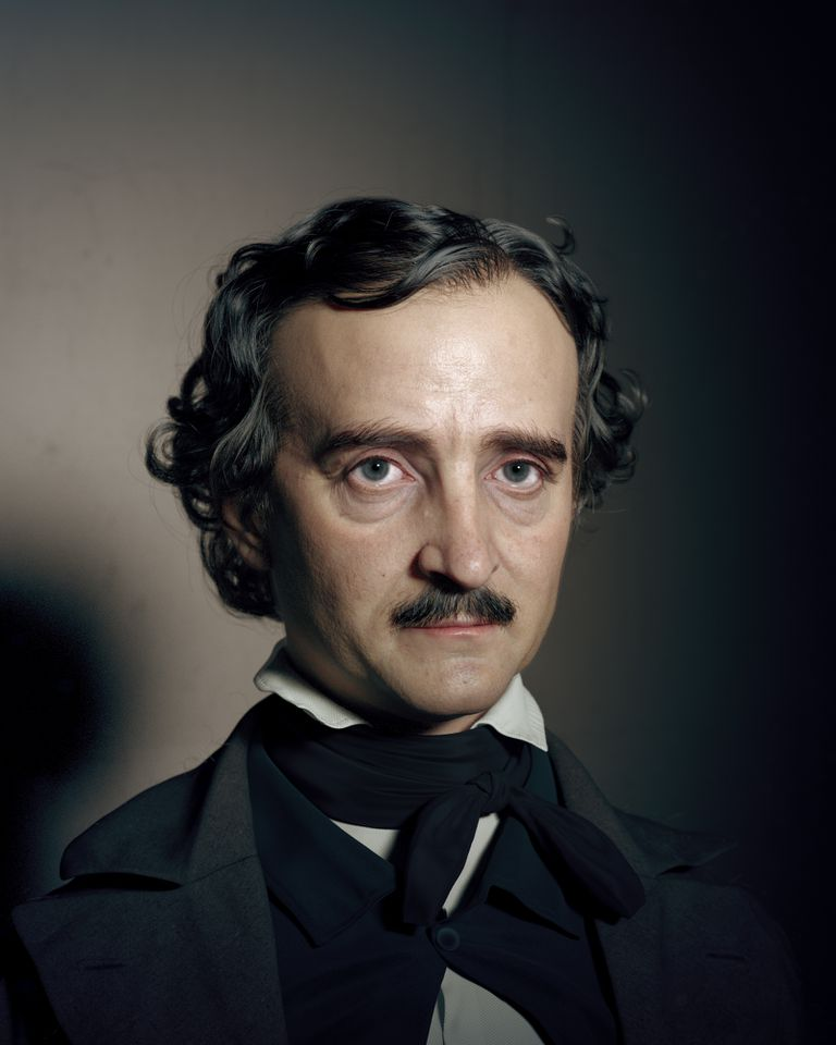 Retrato de Edgar Allan Poe realizado por el artista iranía Hadi Karimi