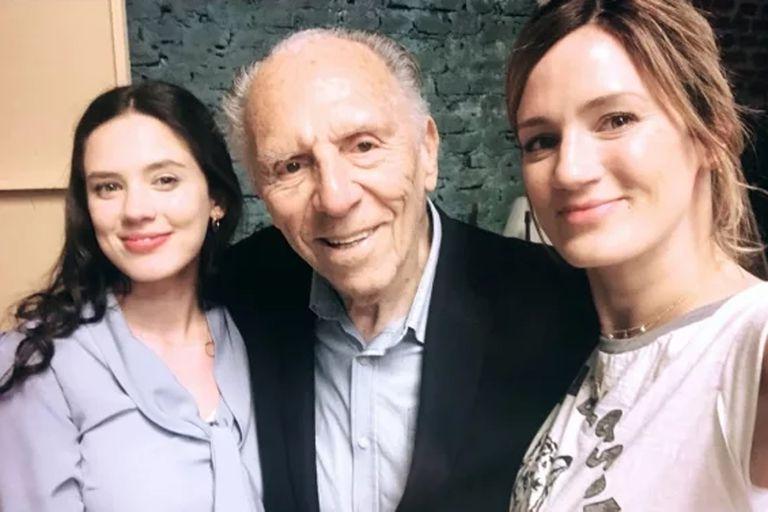 El emotivo encuentro de Delfina Chaves con su abuelo, de 93 años